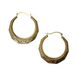 New 9ct Gold Creole Earrings