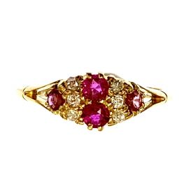 Pre-Loved 18ct  Gold Ruby & Diamond Ring
