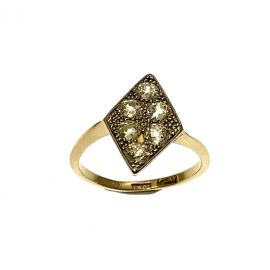 Pre-Loved 9ct Gold Vintage Marquisette Ladies Diamond Ring