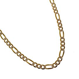 Two Tone 9ct Gold Figaro Chain