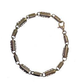 New Silver CZ Barrel Bracelet