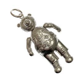 Pre-Loved Giant Silver Movable Teddy Pendant