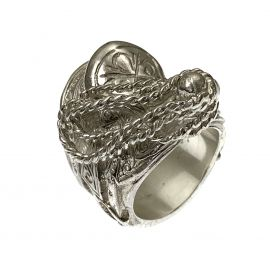 New Heavy Sterling Silver Saddle Ring