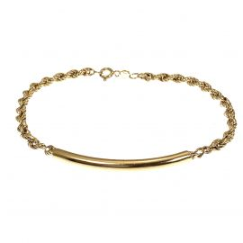 Pre-Owned 9ct Gold Rope Bracelet
