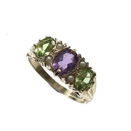 New 9ct Gold Ladies Suffragette Ring