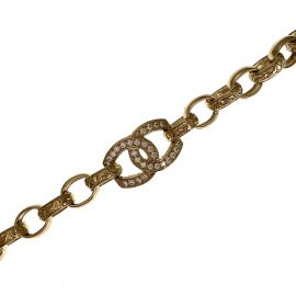 New 9ct Gold Child's CZ CC Bracelet