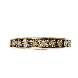Pre-Loved 9ct Gold Diamond Half Eternity Ring