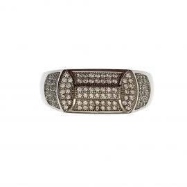 New Sterling Silver Iced Out Men's Ring