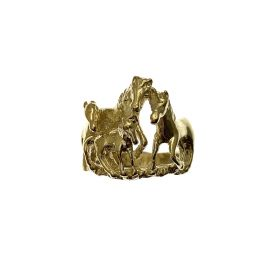New 9ct Gold Horse Ring