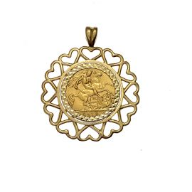 Pre loved 22ct Gold Half Sovereign Pendant