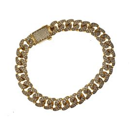 New 9ct Gold Miami Iced Out Cuban Bracelet