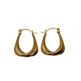 New 9ct Gold Small Square Hoop Earrings