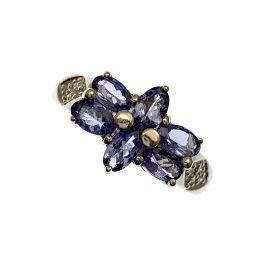 9ct White Gold Tanzanite Ladies Ring