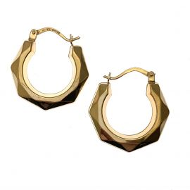 New 9ct Gold Creole Hoop Earrings