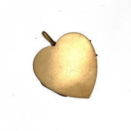 Second Hand Large 9ct Gold Plain Heart Locket
