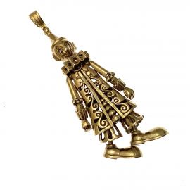 Pre-Owned 9ct Gold Clown Pendant