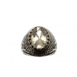 New Sterling Silver CZ College Ring
