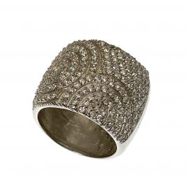 New Sterling Silver CZ Ring