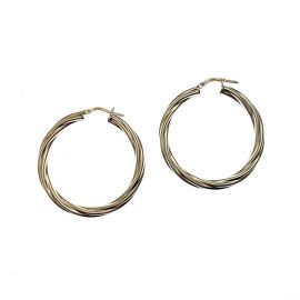 Pre-Loved Sterling Silver Hoop Earrings