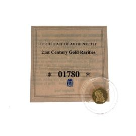 Pre-Owned 14K Gold Coin - 21st Century Gold Rarities - Abraham Lincoln