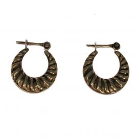 Pre-Loved 9ct Gold Small Twisted Hoop Earring's