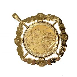 Pre-Loved 22ct Gold Full Sovereign in 9ct Gold Mount
