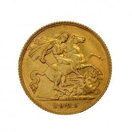 Pre-Owned 1925 22ct Gold Half Sovereign Coin
