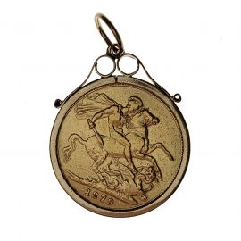 Second Hand 9ct Gold Full Sovereign Pendant