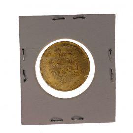 22ct Gold 1892 Austria 4Fl -10Fr Coin