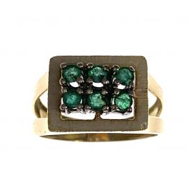 Pre-Owned 18ct Gold Emerald Ring
