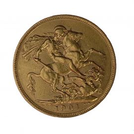Pre-Owned 22ct Gold 1901 Full Sovereign Coin