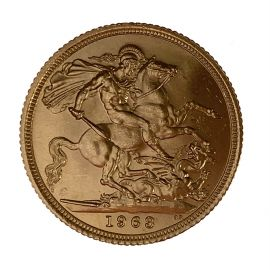 Second Hand 22ct Gold 1963 Full Sovereign Coin