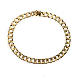 Pre-Owned 9ct Gold Curb Bracelet