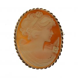Pre-Owned 9ct Gold Cameo Brooch