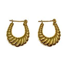 Pre-Owned 9ct Gold Ladies Hoop Earrings