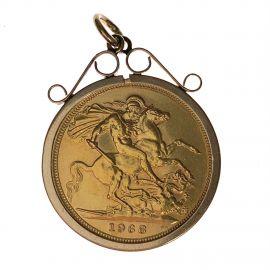 Pre-Loved 22ct Gold Full Sovereign Pendant