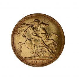 1900 Queen Victoria Full Sovereign Coin