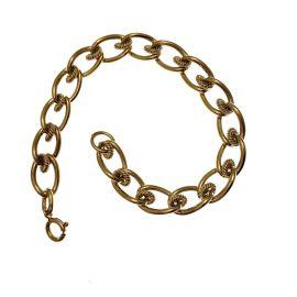 Heavy 9ct Gold Fancy Albert Bracelet