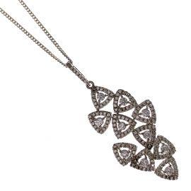 New Silver CZ Pendant Necklace