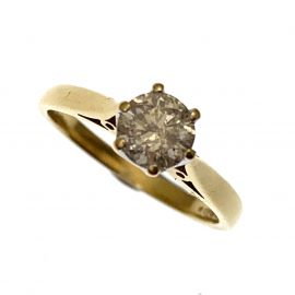 Pre-Owned 18ct Gold Diamond Solitaire Engagement Ring