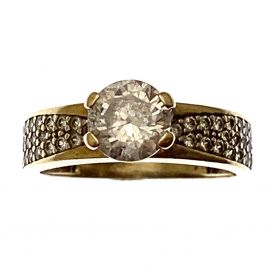 Pre-Loved 9ct Gold CZ Solitaire Ring