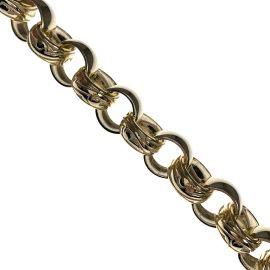 New Heavy 9ct Gold Belcher Bracelet