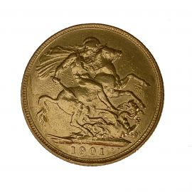22ct Gold 1901 Full Sovereign Coin