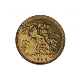 22ct Gold Half Sovereign Coin 1982