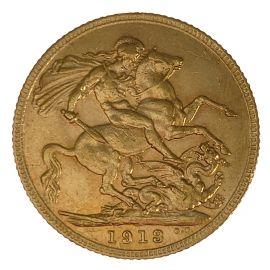 22ct Gold 1913 George V Full Sovereign Coin