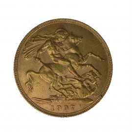 22ct Gold Full Sovereign Coin - 1907 Edward VII
