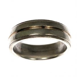 925 Silver & 9ct Gold Ring