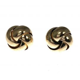 Pre-Loved 9ct Gold Large Knot Stud Earrings