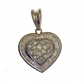 Pre-Loved 18ct Diamond Heart Pendant