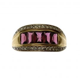 Pre-Owned 9ct Gold Ruby & Diamond Ring
